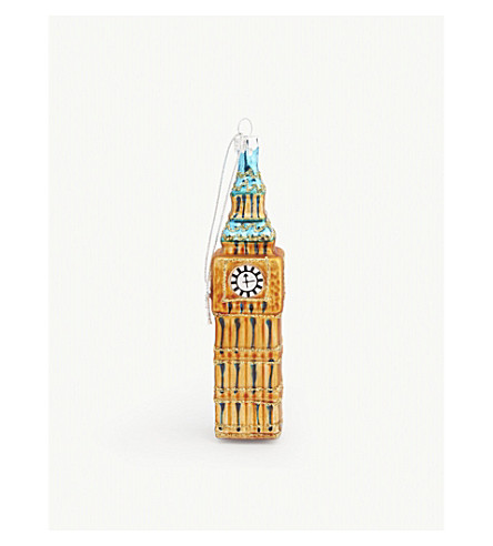 GISELA GRAHAM Big Ben glass bauble 13cm