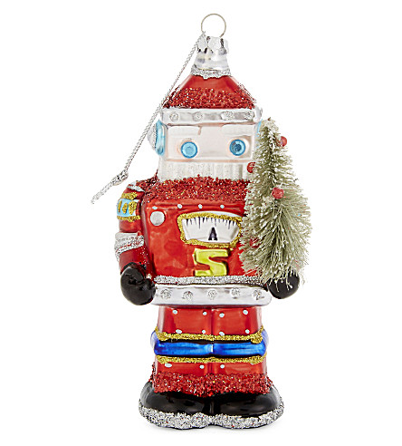 HANGING ORNAMENT Robot Santa tree decoration 16cm