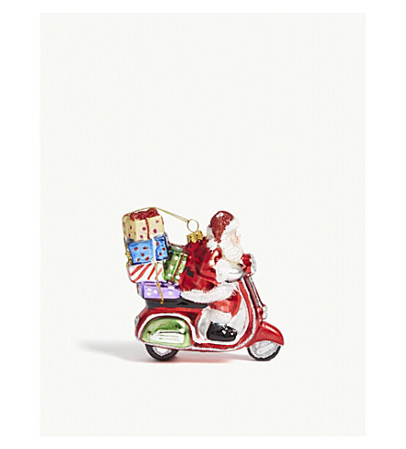 BAUBLE Santa Scooter tree decoration 12cm