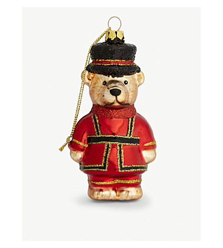 GISELA GRAHAM Beefeater Teddy hanging decoration 10cm