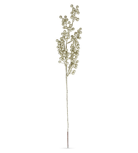 HANGING ORNAMENT Glitter berry branch decoration