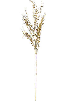 GISELA GRAHAM Gold glitter mini leaf spray 84cm