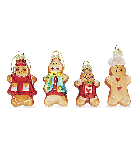 HANGING ORNAMENT Gingerbread men hanging tree decorations