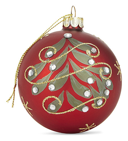 HANGING ORNAMENT Christmas tree glittered bauble