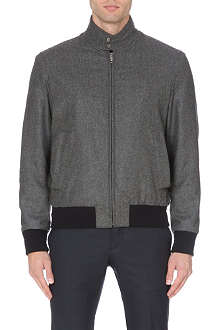 FACONNABLE Contrast-trim wool bomber jacket