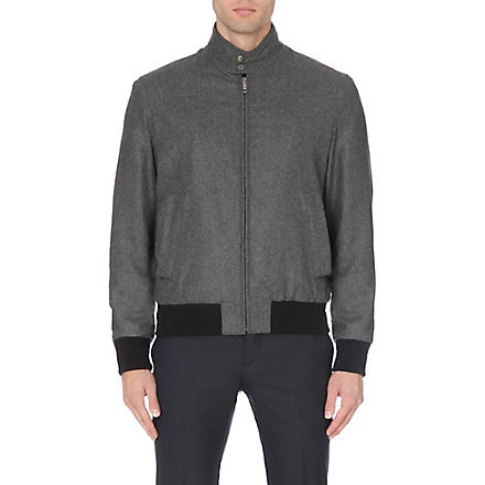 FACONNABLE Contrast-trim wool bomber jacket (Grey