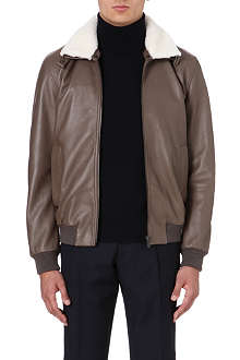 FACONNABLE Shearling collar jacket