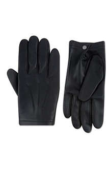 FACONNABLE Silk-lined lambskin gloves