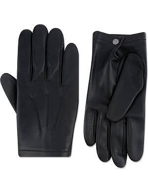 FACONNABLE Silk-lined lambskin gloves