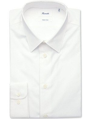 FACONNABLE Braided-trim shirt