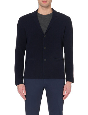 FACONNABLE Notch lapel knitted cardigan