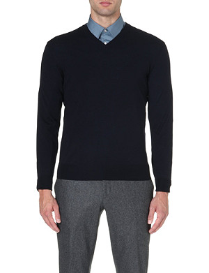 FACONNABLE V-neck merino wool jumper