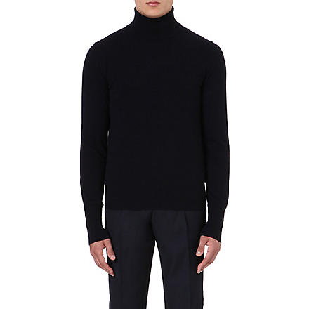 FACONNABLE Cashmere roll-neck jumper (Navy
