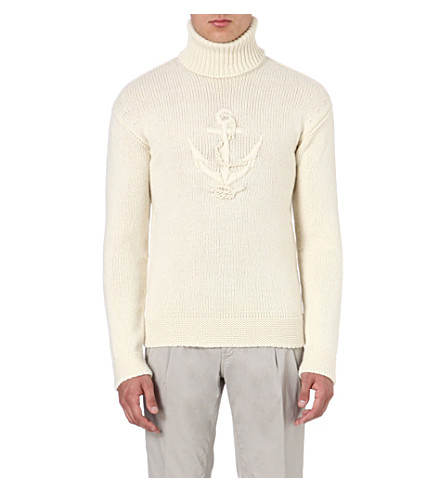 FACONNABLE Anchor motif jumper (Cream