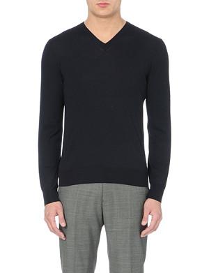 FACONNABLE Wool v-neck jumper