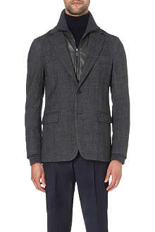 FACONNABLE Aspen leather-insert blazer