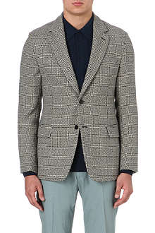 FACONNABLE Dogtooth-print wool blazer