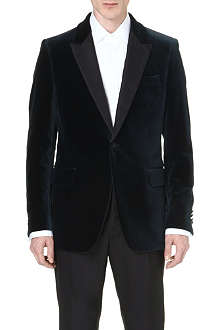 FACONNABLE Peak-lapel velvet evening jacket