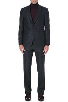 FACONNABLE Single-breasted wool-flannel suit
