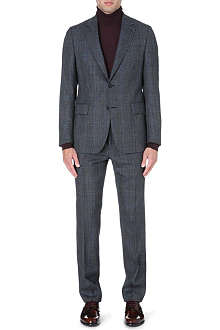 FACONNABLE Checked single-breasted suit