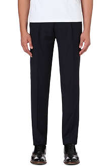 FACONNABLE Slim-fit straight-leg wool trousers
