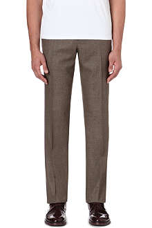 FACONNABLE Slim-fit straight leg wool trousers