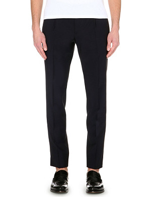 FACONNABLE Slim-fit tapered wool and mohair-blend trousers