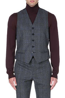 FACONNABLE Checked waistcoat