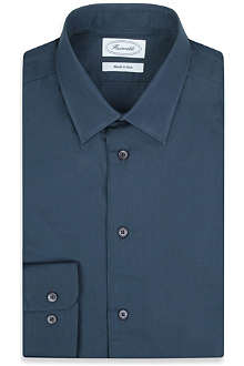 FACONNABLE Contrast-trim slim-fit shirt