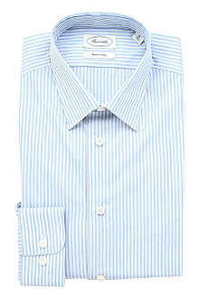 FACONNABLE Striped single-cuff cotton shirt