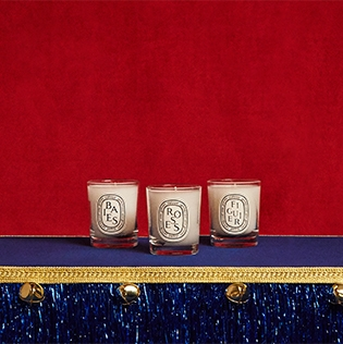 Trio of mini Diptyque candles