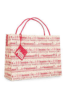 CHRISTMAS Christmas Town large gift bag