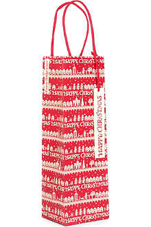 CHRISTMAS Christmas Town bottle gift bag
