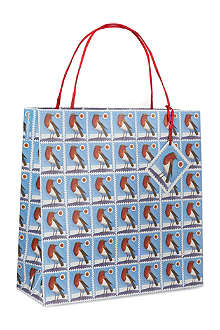 EMMA BRIDGEWATER Robin stamp large giftbag