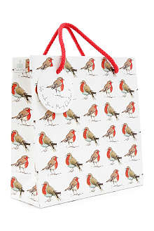 CHRISTMAS Robin gift bag