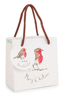 CHRISTMAS Robin small gift bag