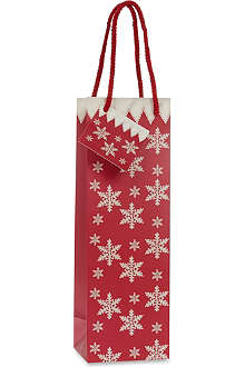 CHRISTMAS Snowflake sparkling bottle bag