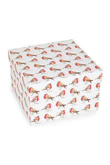 CHRISTMAS Robin large gift box