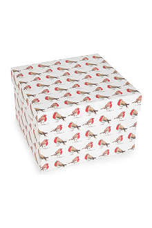 CHRISTMAS Robin extra large gift box