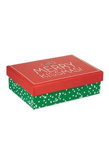 HAPPY JACKSON 'Merry Kissmas!' small gift box