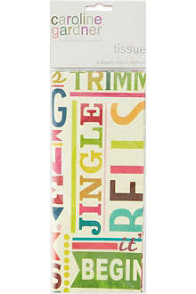 PENNY KENNEDY Vintage text tissue paper