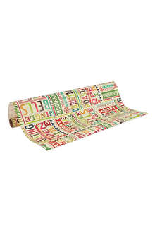 PENNY KENNEDY Vintage text wrapping paper 3m