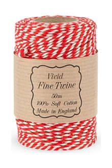 NONE Red twist twine