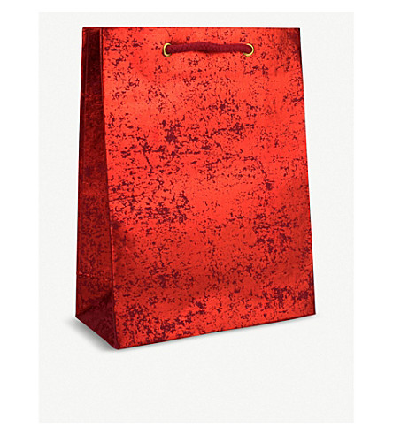 VIVID WRAP Crushed foil medium gift bag 31cm