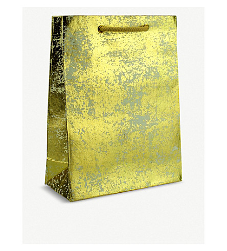 VIVID WRAP Crushed metallic gift bag