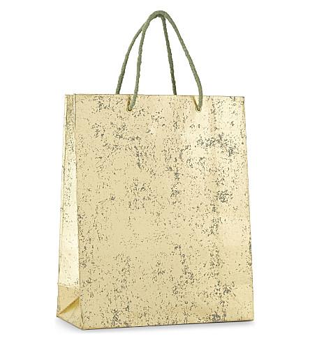 VIVID WRAP Crushed foil medium gift bag 31cm
