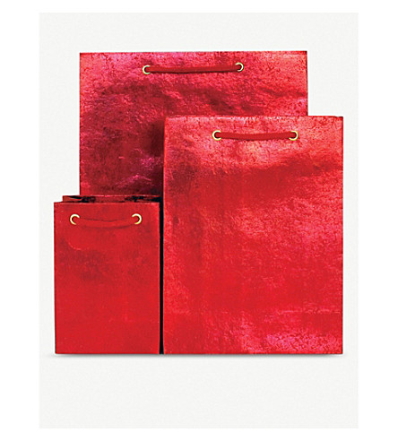 VIVID WRAP Crushed foil medium gift bag 24.5cm