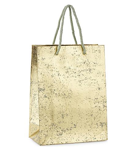 VIVID WRAP Crushed foil medium gift bag 24.5cm