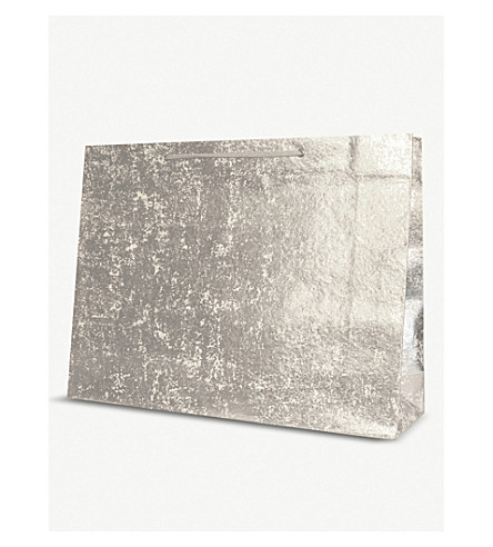 WRAP Extra-large metallic crushed foil gift bag