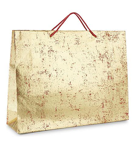 VIVID WRAP Extra-large metallic crushed foil gift bag